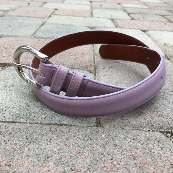 Coach Accessories - Authentic Coach Lavender Purple Leather Belt Small